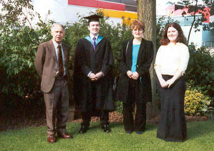 Jamie's graduation in July, 2001